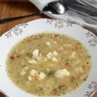Zupa z kalafiorem i kaszą jaglaną (na kurczaku)