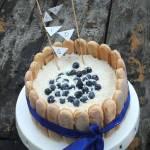Tort tiramsu z borówkami