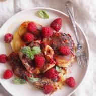 Placuszki z mascarpone i malinami / Mascarpone pancakes with raspberries