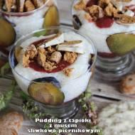 Pudding z tapioki z musem śliwkowo-piernikowym