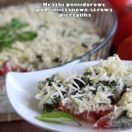 Krążki pomidorowe pod śmietanowo-serową pierzynką