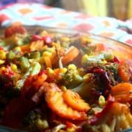 Pieczona karkówka z warzywami