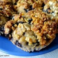 Fit muffinki z borówkami i kruszonką