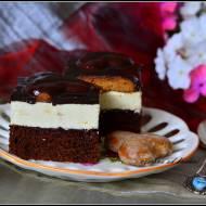 Ciasto z kremem i pierniczkami