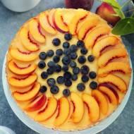 Ciasto na zimno z nektarynkami