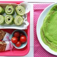 Zielone naleśniki z szynką i serem