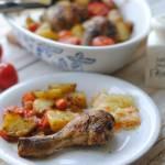 Udka i podudzia pieczone z pomidorkami
