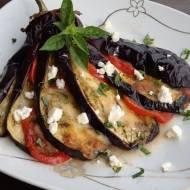 Bakłażany zapiekane z pomidorami i mozzarellą