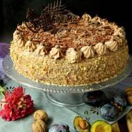 Tort śliwkowo-czekoladowy i 5 urodziny bloga