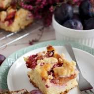 Ciasto drożdżowe ze śliwkami (bez wyrabiania)