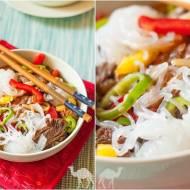 Fit obiad z wołowiną i makaronem shirataki