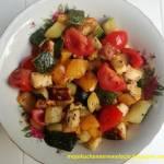 Grillowane warzywa z serem halloumi