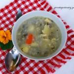 Zupa szczawiowa z lanymi kluskami