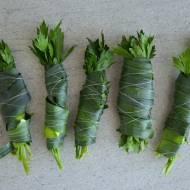Mrożenie liści selera i pora - gotowe zestawy rosołowe