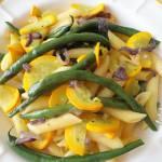 Makaron z fasolką szparagową i cukinią (Penne con fagiolini e zucchine)