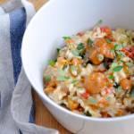 Risotto z kurkami, pomidorem polnym i świeżym tymiankiem