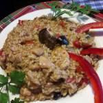 risotto z kurczakiem i grzybami leśnymi