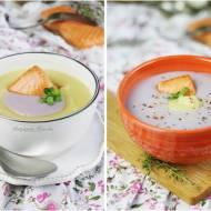 Kolorowa zupa ziemniaczana z wędzonym łososiem