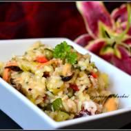 Kolorowe risotto z owocami morza