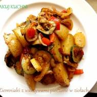 Ziemniaki z warzywami pieczone w ziołach