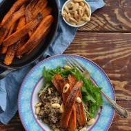 Aromatyczne pieczone marchewki z komosą ryżową!