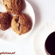 Ciastka z melasą z morwy i z czekoladą ( bez glutenu i masła )