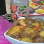 Gulasz wołowy z podgrzybkami i ziemniakami
