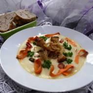 Biała zupa krem (Pietruszka,seler,ziemniaki)