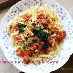 Makaron z sosem pomidorowym i mascarpone