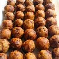 ciasteczkowe kulki z cieciorki z czekoladą