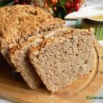 Chleb z płatkami żytnimi,ostropestem i słonecznikiem