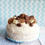 Tort kokosowo  - kajmakowy