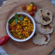 Potrawka z kukurydzy i pomidorów