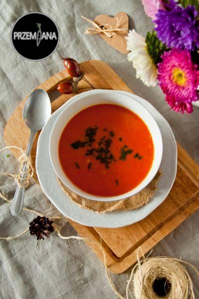 Zupa z soczewicy i pieczonej papryki
