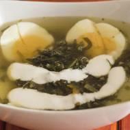 Zupa szczawiowa z jogurtem naturalnym
