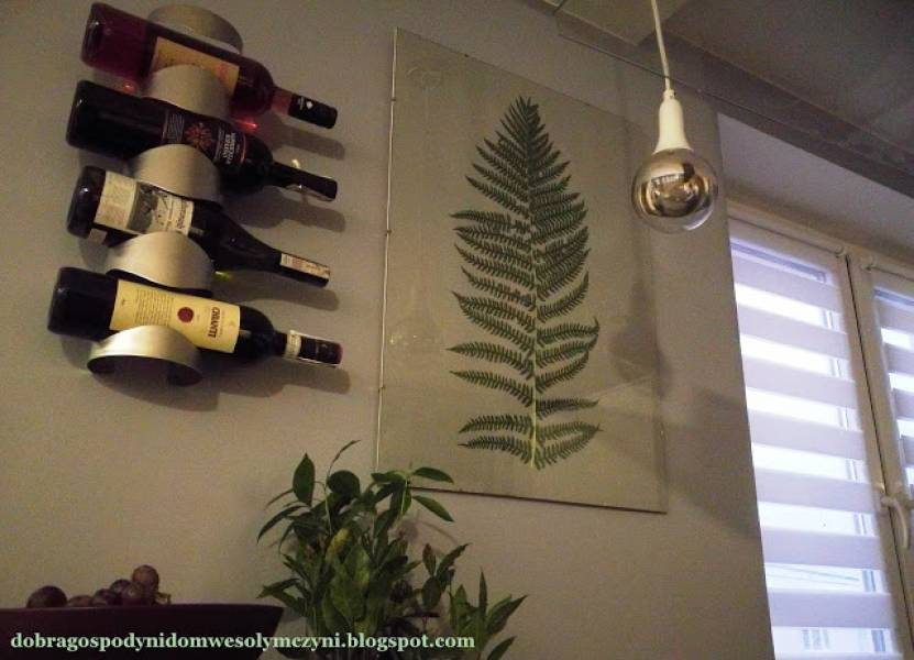 Liść jak obraz - prosta i naturalna dekoracja do mieszkania
