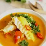 Zupa rybna z dorsza i papryką