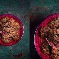 Podwójnie czekoladowe ciasteczka brownie z żurawiną