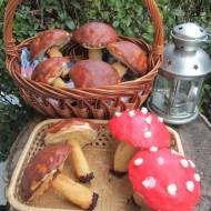 słodkie grzybki z kremem-pyszne :)