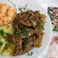 wieprzowa wątróbka z shoarmą na smaczny obiad...