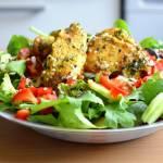 Sałatka ze szpinakiem i kurczakiem - lekki obiad :)