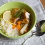 zupa cytrynowa z pieczonym kurczakiem