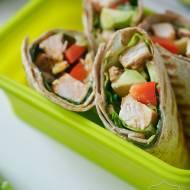 Wrapy z kurczakiem – zdrowy lunchbox + konkurs Galeo