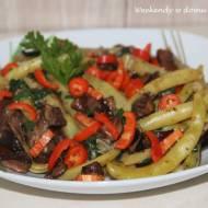 Fasolka szparagowa z grzybami leśnymi