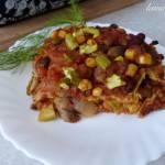 Tortillowa zapiekanka warzywna z salsą