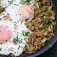 Jajka sadzone na maślakach