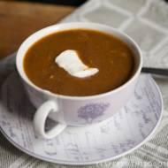 zupa ze świeżych grzybów z suszonymi śliwkami
