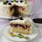 Tort rafaello z wiśniami