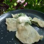 Pierogi ze szpinakiem i białym serem