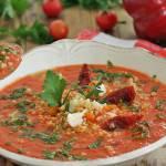 Pomidorowo paprykowo serowy krem